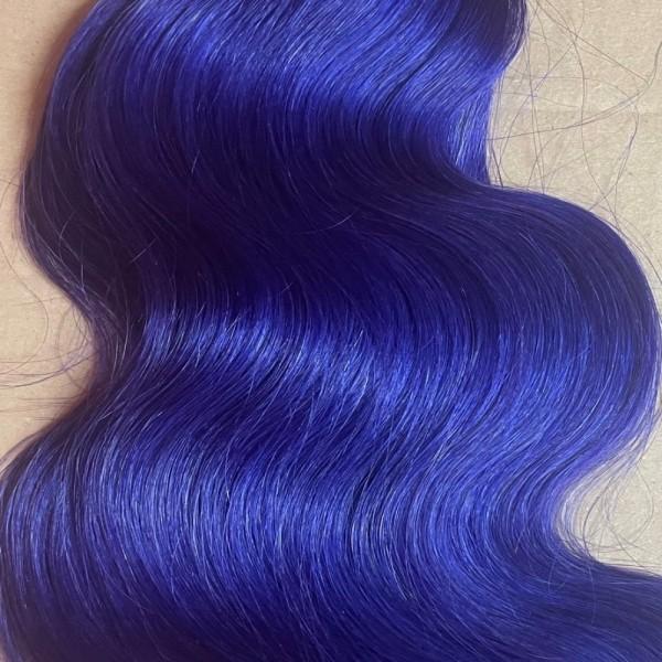 Sonderpreis: 1 indische Naturhaarsträhne 55-60 cm eingefärbt in purple