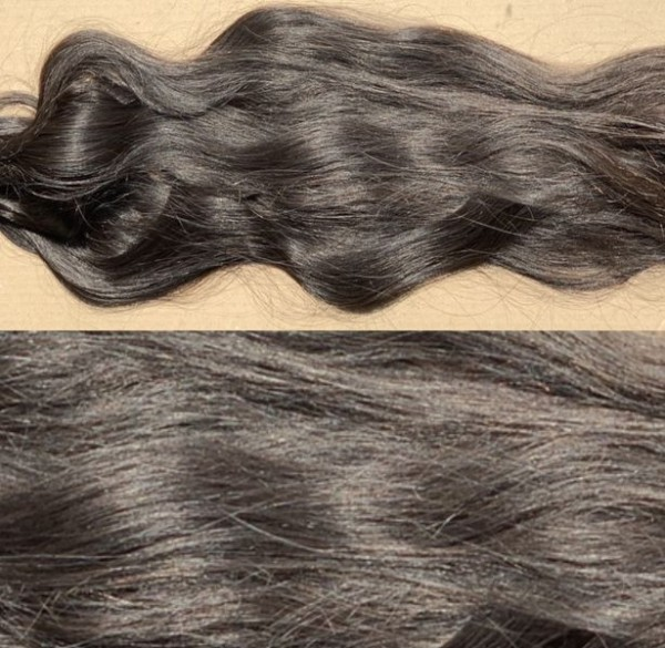 90 Strähnen indisches Haar tiefdunkelbraun 70 cm