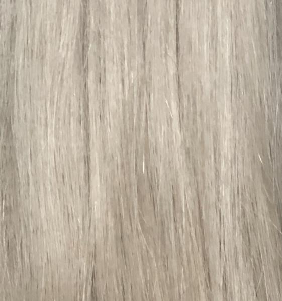 1 Tresse aus russischem Schnitthaar eingefärbt in hellblond asch