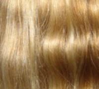 200 eingefärbte Naturhaarsträhnen hellblond/dunkelblond p613/27 MR