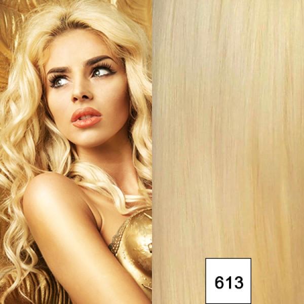 Premium Qualität: 20 x 4 cm russisches Naturhaar hellblond Fb. 613