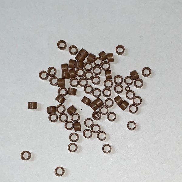 200 Microringe mit Gewinde hellbraun