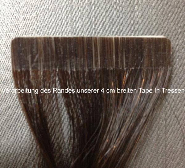 Sonderpreis wegen Lieferantenwechsel: 10 x 4cm Tape In Skin Weft glattes indisches Naturhaar mittelb
