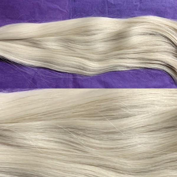 Diamond Line: 100 Strähnen europäisches Haar platinblond asch 40 cm