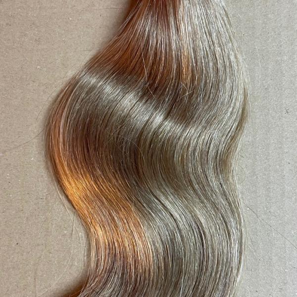 Sonderpreis: 50 Strähnen mittelblond karamell Fb. 29 35-40 cm 0,7 g Strähnen