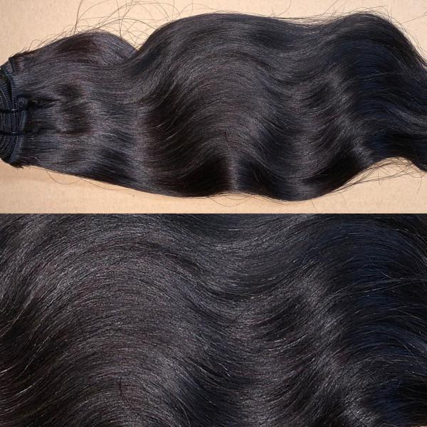 1 Tresse indisches Naturhaar schwarzbraun