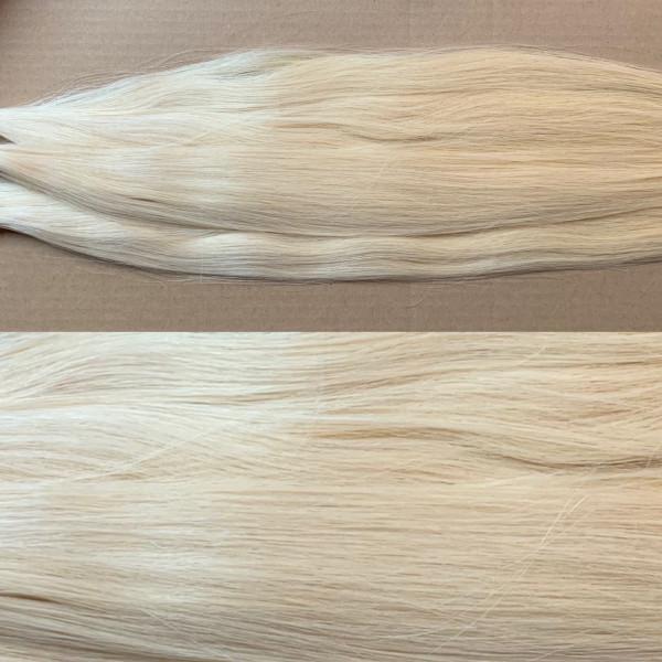 Premium Qualität: 1 Strähne russisches Naturhaar Platinum Blonde