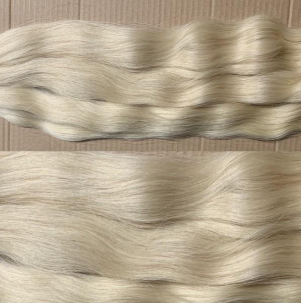 Diamond Line: 125 Strähnen naturgewelltes europäisches Haar lichtblond 45-50 cm