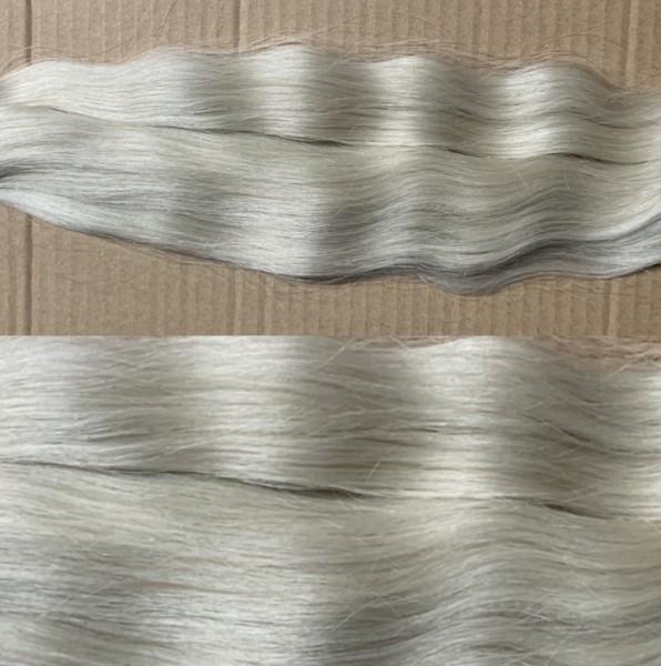 Diamond Line: 125 Strähnen naturgewelltes europäisches Haar platinblond asch 40 cm