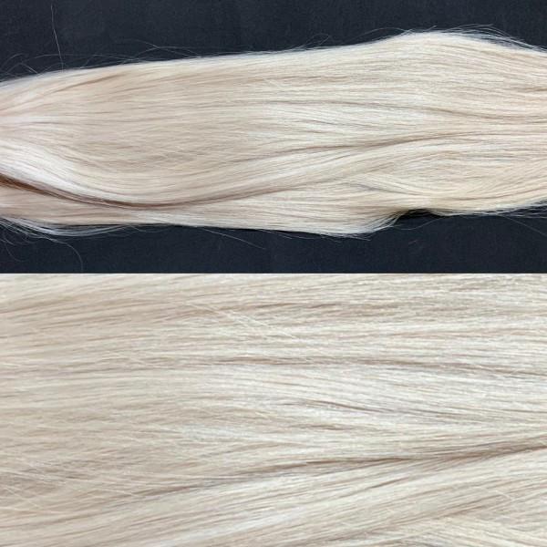 Deluxe:1 indische Echthaarsträhne Platinblond perl Fb. Sandy Blonde